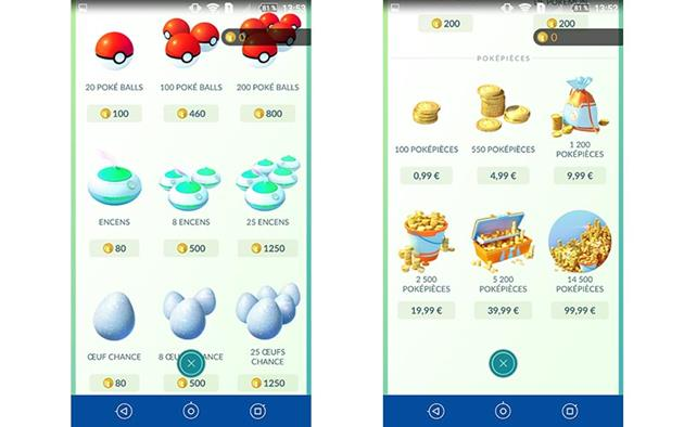 Achats intégrés, le plus grand danger de Pokémon GO