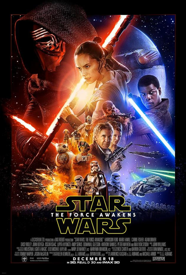 Affiche officielle de Star Wars le Réveil de la Force