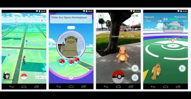 Captures d'écran de Pokémon GO