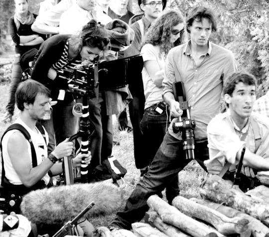 Adrien Jeannot en plein tournage