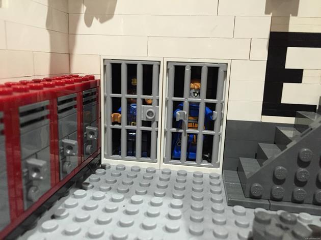 Des zombies en cellules dans le bloc E