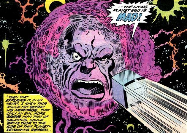 Ego à l'origine des comics