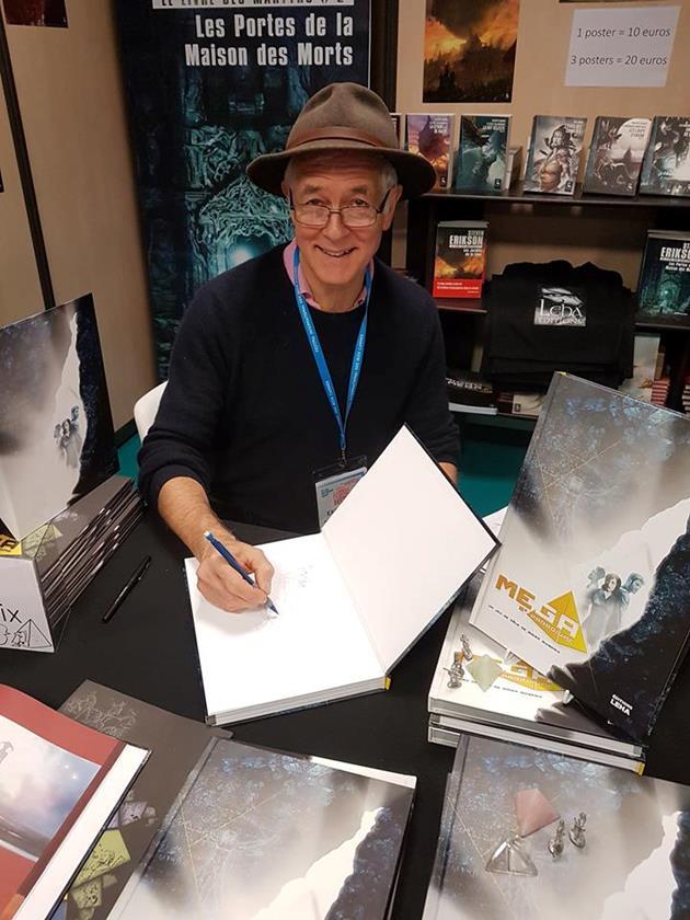 Didier Guiserix en dedicace pour les editions Leha