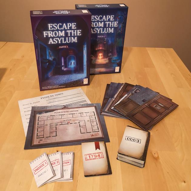 jeu Escape From The Asylum box le coffre des joueurs