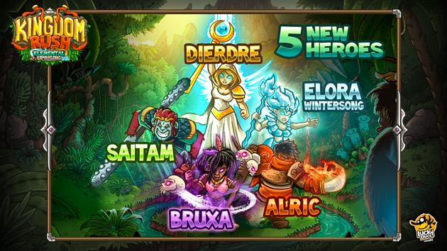 Kingdom rush Element uprising heros