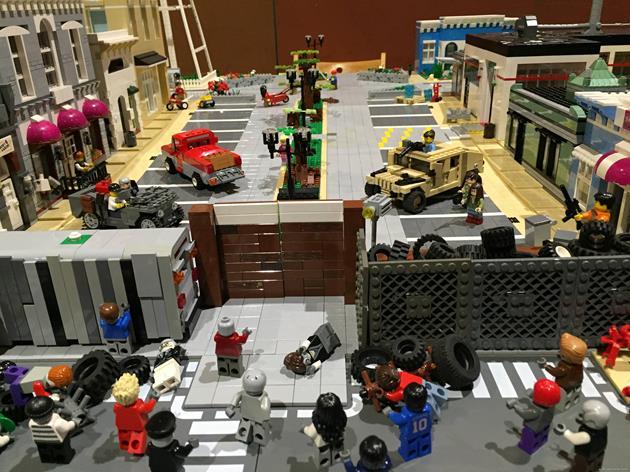 L'entrée de la ville du gouverneur en LEGO