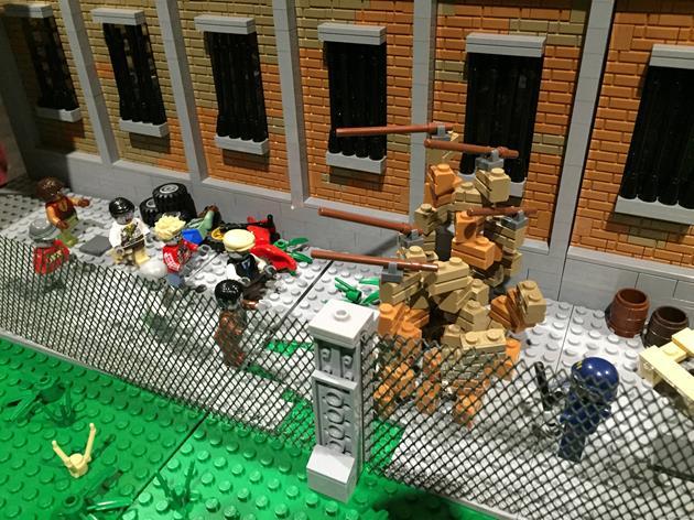 Les zombies aux barricades de la prison