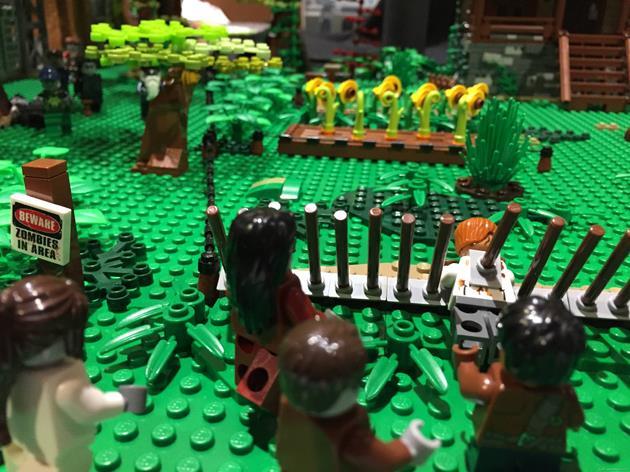 Protection anti-zombies autour de la maison du mentor de Morgan