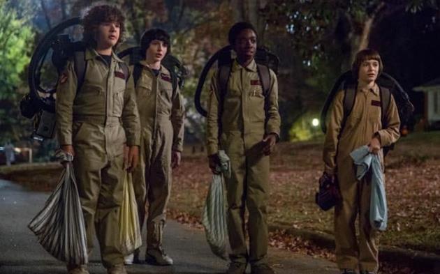 Les 4 garçons de Stranger Things au complet