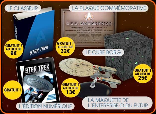 Les cadeaux de la collection Star Trek