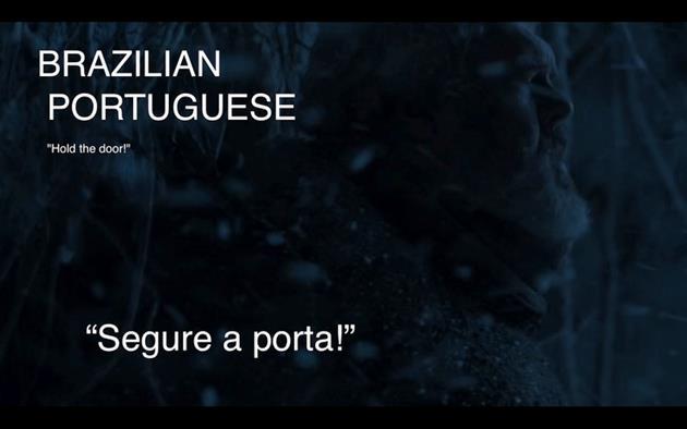 Traduction brésilienne et portugaise de Hodor