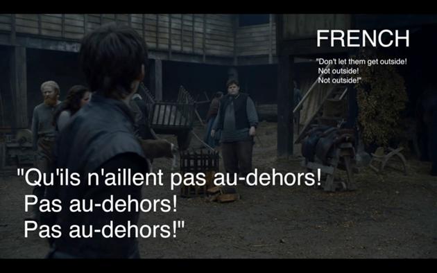 Traduction française pour Hodor