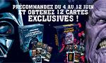 L'Ascension du côté obscur et de Thanos en précommande : 12 cartes exclusives en bonus