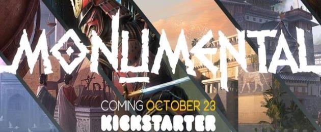 Deuxième campagne de financement participatif pour Monumental : Vous pensiez que le Kickstarter avait sombré corps et bien ? Monumentale erreur…