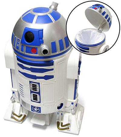 La poubelle R2-D2 en action