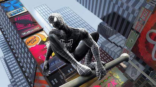 Spider-Man avec son costume noir