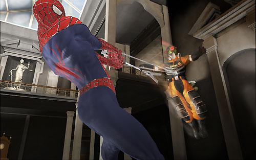 Spider-Man en plein combat
