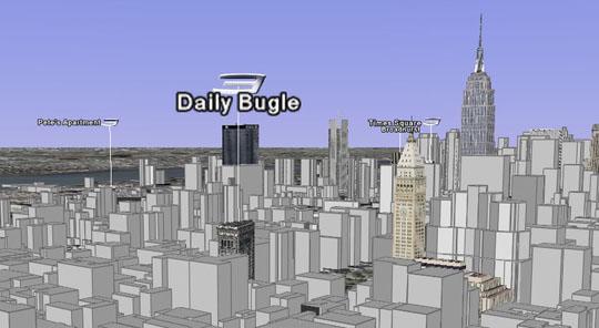 Les bâtiments virtuels de la saga rajoutés dans New York