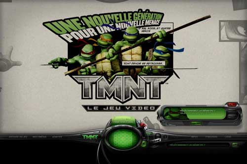 Le site officiel TMNTgame.com