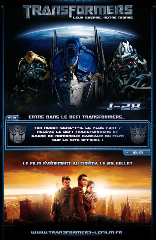 Le site Experience de Transformers