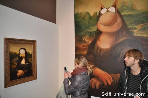 Le chat et Donald façon Leonard de Vinci
