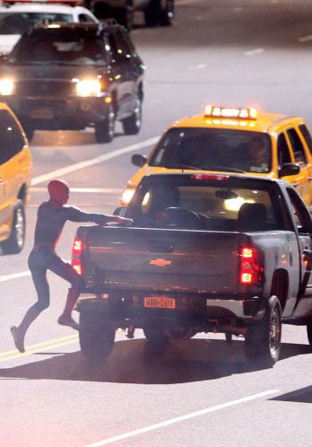 Tournage Spider-Man 2012 - photo 1