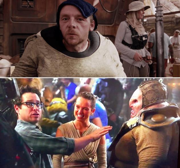 Simon Pegg joue dans le réveil de la force