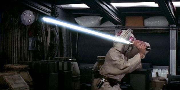 La boule d'entrainement Jedi de Luke est dans le Faucon