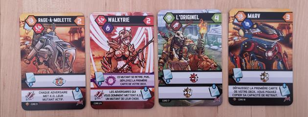 Cartes jeu Mutants