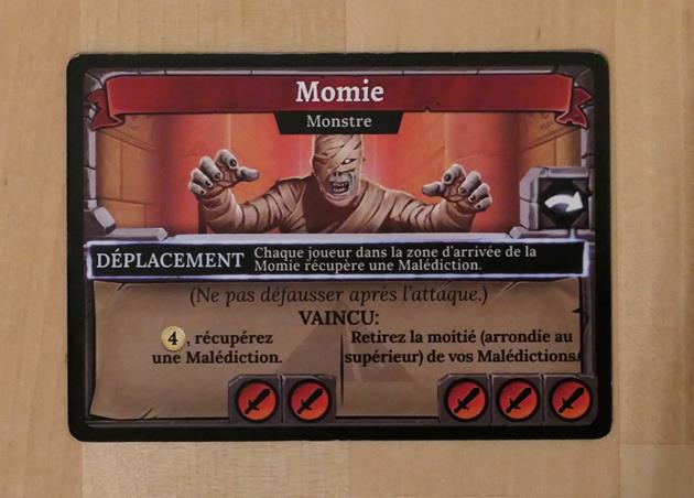 Clank! La malédiction de la momie carte momie
