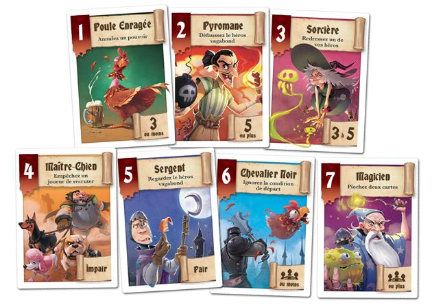 Héros à louer Cartes