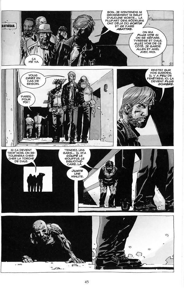 Planche extraite du tome 4 de Walking Dead