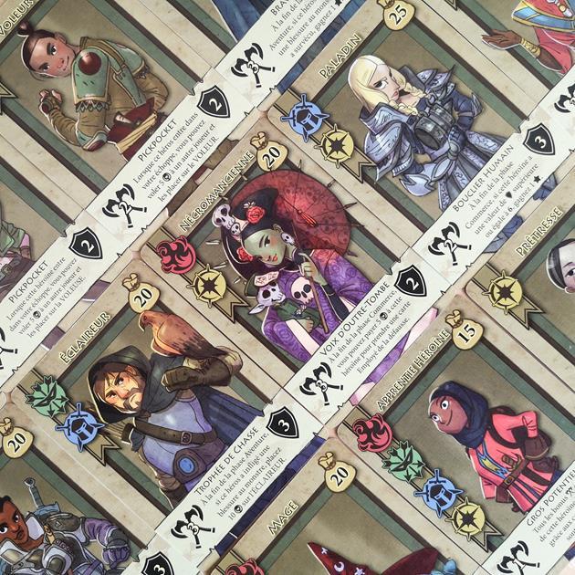 Jeu Bazar Quest cartes héros