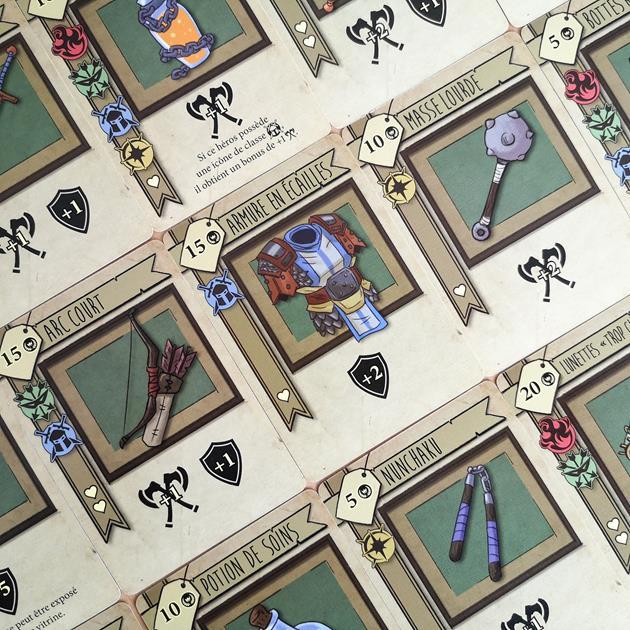 Jeu Bazar Quest cartes objets