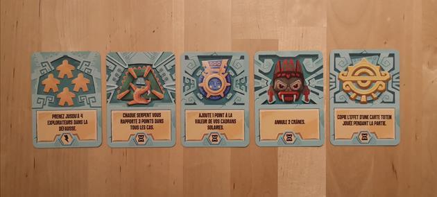 Jeu les trésors de cibola cartes