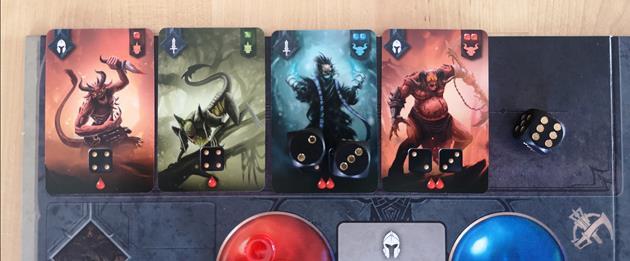 jeu Sanctum cartes démons