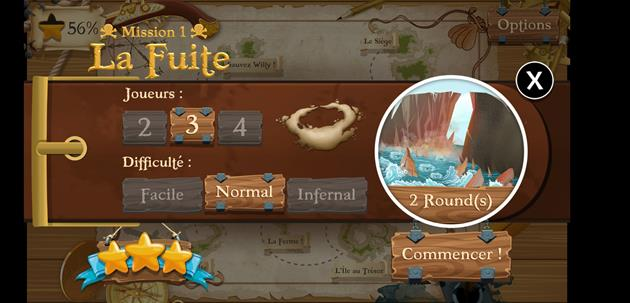 Jeu Une Histoire de Pirates scénario