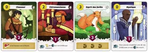 Quelques cartes du jeu