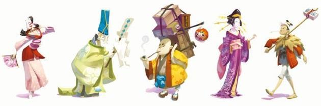 Quelques personnages du jeu