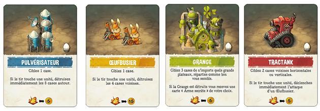 Touché Poulet Cartes unités