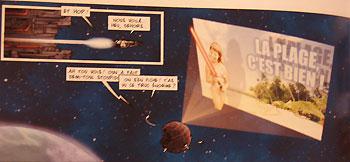 Le Soleil Noir II sert d'affiche promo géante