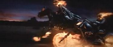 Une des séquences les plus bidons du film : 2 générations de Rider