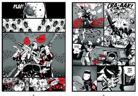 La partie en noir et blanc genre Sin City