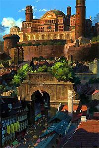 Le chant de Therru et la ville au style très européen