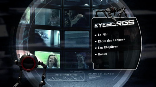 Eyeborgs menu DVD
