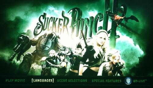 sucker punch menu Blu-ray