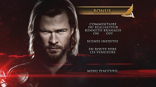 Thor Menu bonus DVD