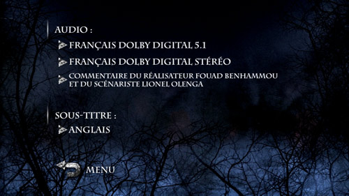 Village des ombres menu Audio