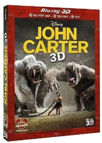 John Carter Combo Blu-ray 3D + Blu-ray + DVD