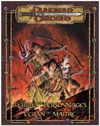 Dungeons & Dragons 3ème édition : Feuilles de Personnages et Ecran du Maître - édition 3.5